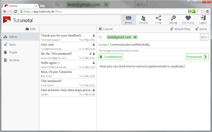 Tutanota email